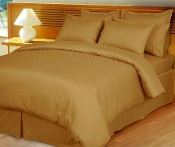 Bronze Damask Stripe, Down Alternative 4-PC Comforter Set,