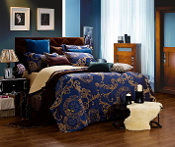 Venus Blue 6 Piece Duvet Cover Set  Luxury Linen Bedding
