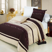 Chocolate Clarice Duvet Cover Set