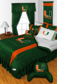 Miami Hurricanes Sideline Room Sports Bedding Collection