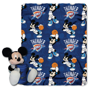 Oklahoma City Thunder NBA Mickey Mouse with Throw Combo