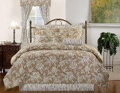 Sheffield Beige/Ivory Comforter/Duvet Cover by Victor Mill