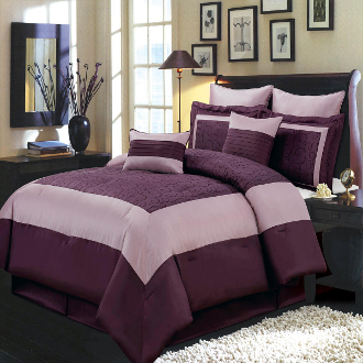 Wendy Purple 12- Piece Comforter Set