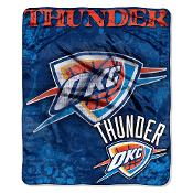 Oklahoma City Thunder NBA Royal Plush Raschel Blanket