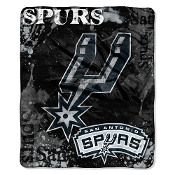 San Antonio Spurs NBA Royal Plush Raschel Blanket