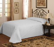 French Tile Silver Microfiber Bedspread Silver