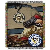 Pittsburgh Penguins NHL Woven Tapestry Throw (Vintage Series) (4
