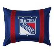 "New York Rangers NHL ""Sidelines Collection"" Pillow Sham"
