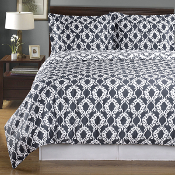 Sierra Gray/White Silky Soft 100-Percent Egyptian Cotton