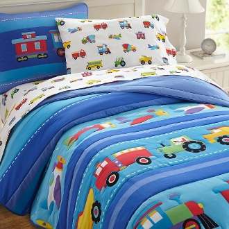 Olive Kids Trains, Planes, Trucks Bedding