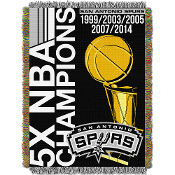 San Antonio Spurs NBA Championship 5x Commemorative Woven