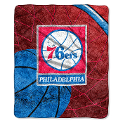"Philadelphia 76ers NBA Sherpa Throw (Reflect Series) (50""x60"")"