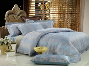 Fountain-Blue Duvet Cover Luxury Cotton Bedding