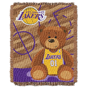 Los Angeles Lakers NBA Triple Woven Jacquard Throw