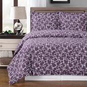 Purple White Eva Duvet Cover Set