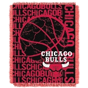 Chicago Bulls NBA Triple Woven Jacquard Throw