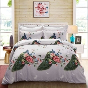 Peacock Duvet Cover Set